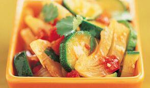 Salade de fenouils et courgettes à la grecque