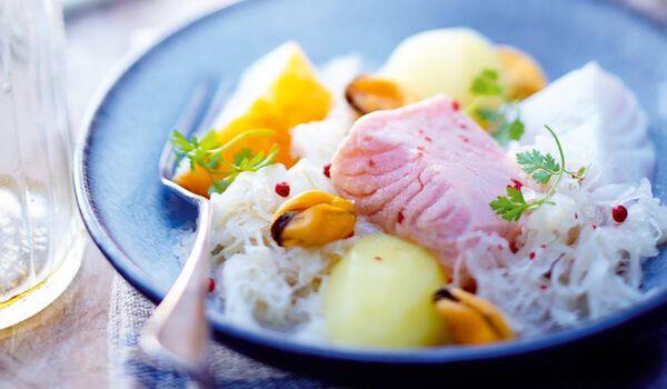 Choucroute de la mer surgel s les plats cuisin s picard for Plats cuisines picard