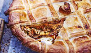 Tourte au poulet foie gras et épices
