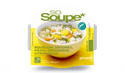 Bol so soup bouillon, légumes, pâtes, gingembre