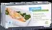 Papillote de saumon, fondue de poireaux
