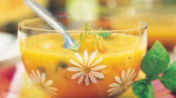 recette soupe glac e de melon et mangue au citron vert recettes les desserts picard. Black Bedroom Furniture Sets. Home Design Ideas