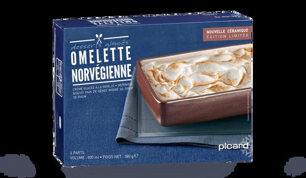Omelette norvégienne présentée en plat céramique