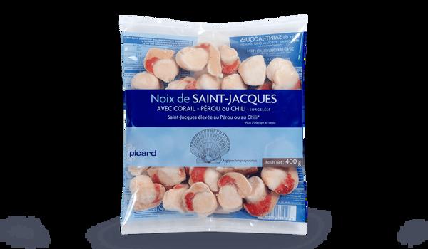Noix St-Jacques Pérou/Chili Argopecten avec corail