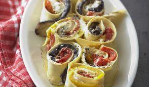 Cannelloni aux aubergines, poivrons et ricotta