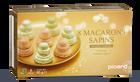 8 macarons sapins, 4 pistache-4 marron vanille