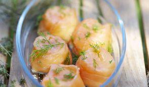 Petits gâteaux de saumon fumé