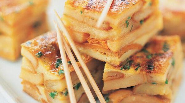 Tortilla aux girolles et aux pommes de terre