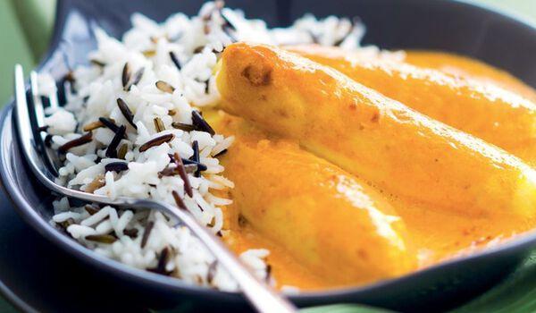 Quenelles de brochet sauce Nantua et duo de riz