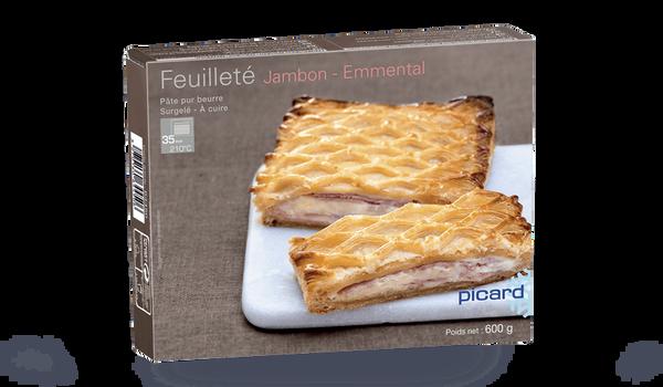 Feuilleté jambon-emmental, 4 parts