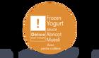 Frozen yogurt sauce abricot - muesli