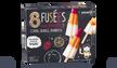 8 fusées, glace à l'eau citron, orange, framboise