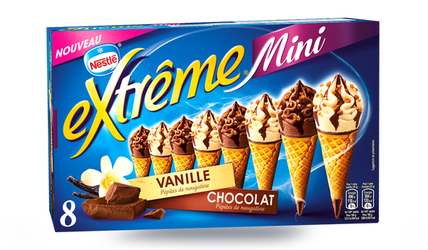8 mini cônes Extrême vanille et chocolat