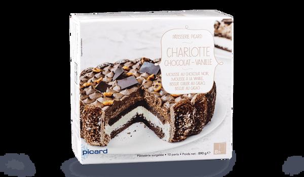 Charlotte chocolat-vanille, 10 parts