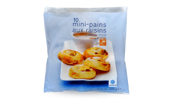 10 mini-pains aux raisins, pur beurre, à cuire