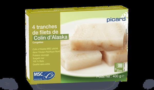 4 tranches de filet de colin d'Alaska MSC