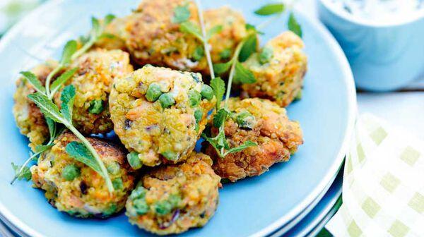 Boulettes de boulghour et légumes à la menthe
