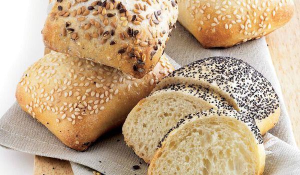 6 petits pains assortis, précuits