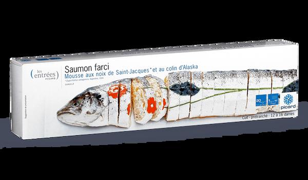 Saumon farci, mousse aux noix de Saint Jacques