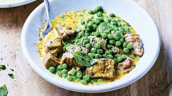 Blanquette de veau aux garden peas et à la menthe