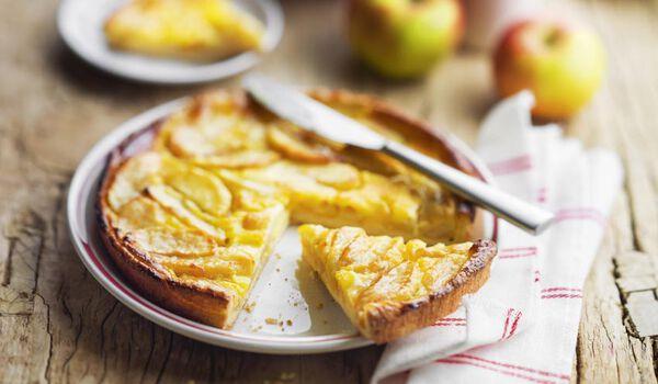 Tarte à la normande aux pommes