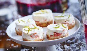 Mini-cheesecakes salés au saumon fumé