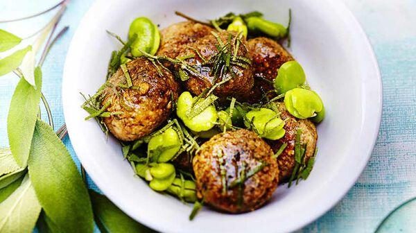 Recette boulettes de sarrasin aux herbes f ves au beurre - Cuisiner les feves fraiches ...