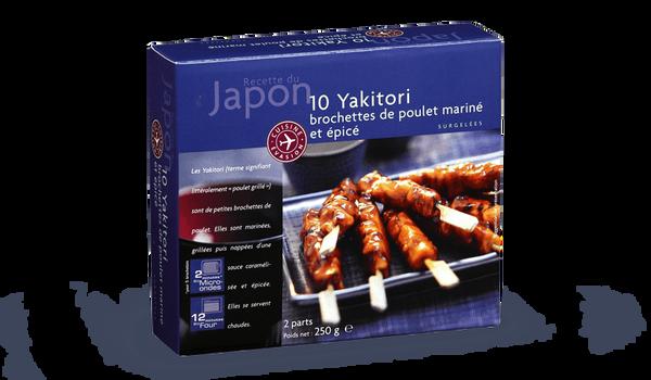 10 Yakitori, brochettes de poulet mariné et épicé