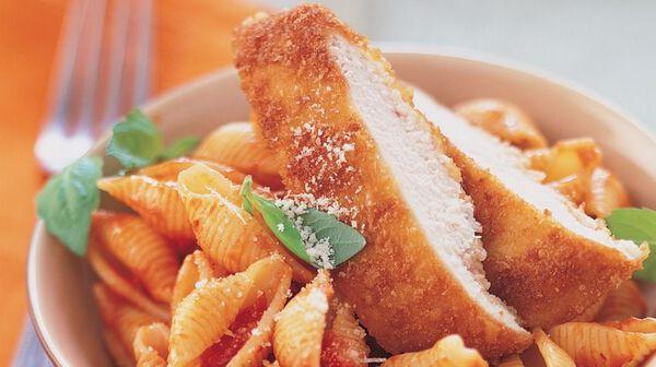 Escalope de poulet à la parmesane