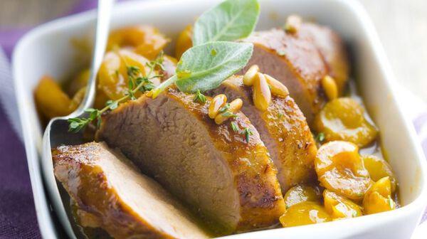 Recette filet mignon au miel et mirabelles recettes les plats picard - Recette avec des mirabelles ...