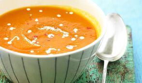 Velouté glacé carotte et coco