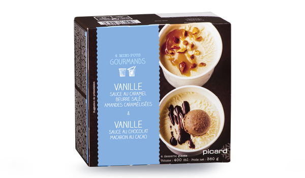 4 mini-pots gourmands vanille