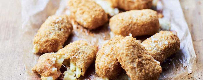 Croquettes de Mac and Cheese