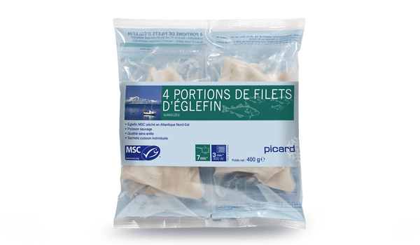 4 portions filets Eglefin MSC, Norvège ou Islande