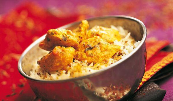 Poulet Tikka et riz basmati