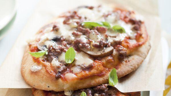 Pizza express bœuf, champignons