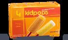 4 Kidpops glace à l'eau : orange et citron