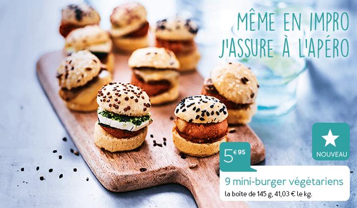 9 mini-burgers Tout bon tout veggie