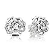 Shimmering Roses Stud Earrings