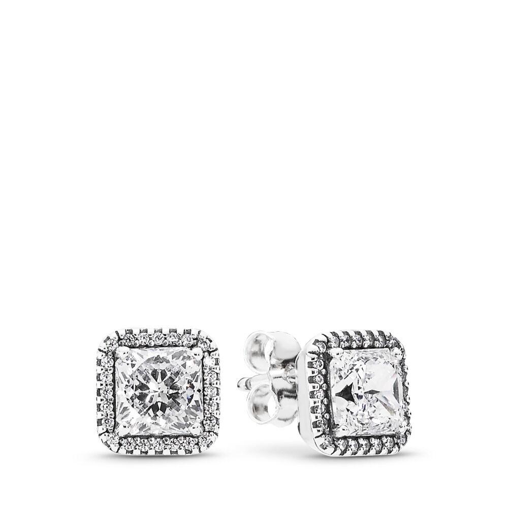 Pandora Diamond Stud Earrings: Timeless Elegance Stud Earrings - Pandora UK