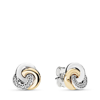 Interlinked Circles Stud Earrings