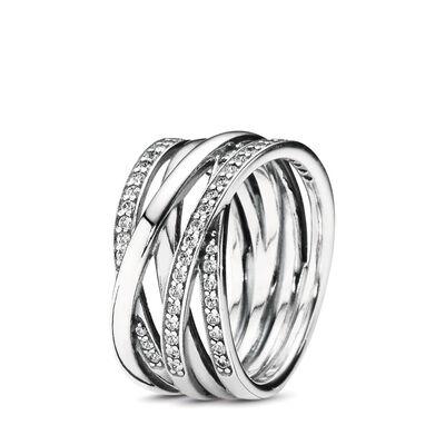 Funkelnde Bänder Ring