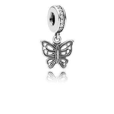 Charm con pendente Farfalla Vintage