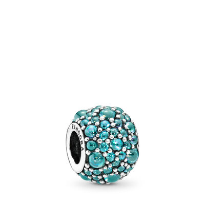 Teal Shimmering Droplets Charm