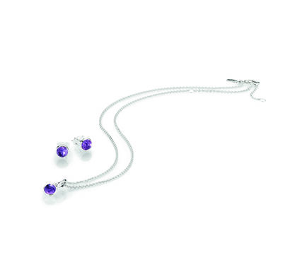 FEBRUARY BIRTHSTONE DROPLET GIFT SET
