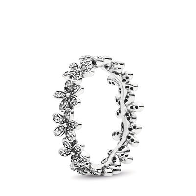 Glanzvolles Gänseblümchen-Band Ring