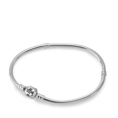Moments Sterling Silver Charm Bracelet - Barrel Clasp