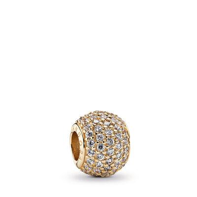 Goldener Pavé-Kugel Charm