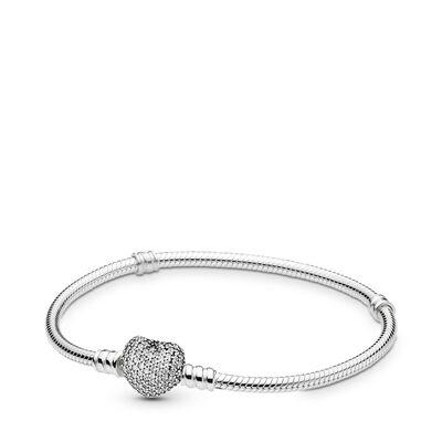 Armband mit Pavé-Herz-Verschluss