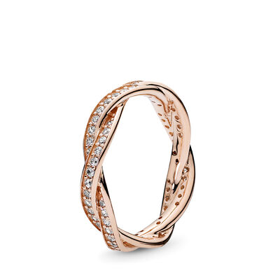 Rosé goud ring lint van liefde